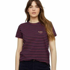 "Damen-T-Shirt ""Happy Embroidered Stripe Tee"" - People Tree"