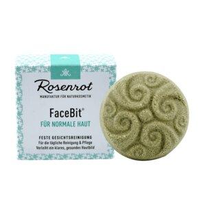 ShowerBit - festes Waschgel FaceBit - Gesichtsreinigung - 60g - Rosenrot Naturkosmetik