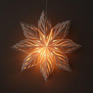 Weihnachtsstern weißes Papier dekorative Pendelleuchte Ø60 cm Lalita - inkl. Beleuchtungsset - Lalita - MoreThanHip