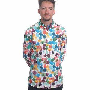 Multi Color Dot Printed Shirt - Knowledge Cotton Apparel