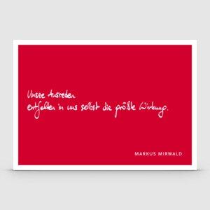 Postkarte mit Spruch: Unsere Ausreden... - Markus Mirwald