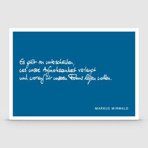Postkarte mit Spruch: Es gilt zu unterscheiden... - Markus Mirwald