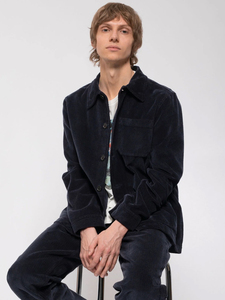 Breitcord Worker Jacket aus Biobaumwolle von Nudie Jeans, Navy - Nudie Jeans