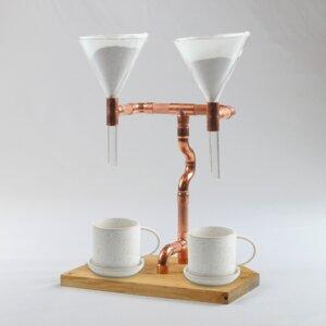 2er Kaffeebereiter Coffee Maker Pour Over Filterkaffee Kaffeemaschine Kaffee Pour Over Twin - Holzköpfchen