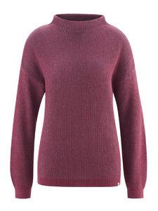 Damen Strick-Pullover mit Kelchkragen Hanf/Bio-Baumwolle - HempAge