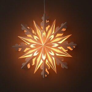 Weihnachtsstern weißes Papier dekorative Pendelleuchte Ø50 cm - inkl. Beleuchtungsset - Shanti - MoreThanHip