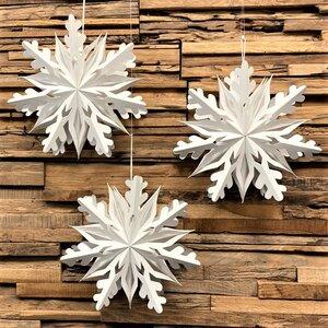 Weihnachtsstern weißes Papier Ø25 cm Shanti Small - 3er-Set - MoreThanHip