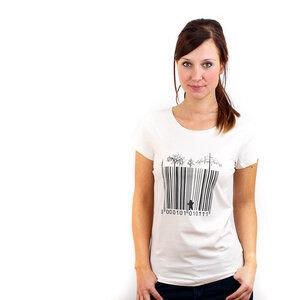 Barcode Cage - Frauenshirt aus Biobaumwolle - Coromandel