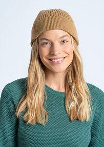 Mütze aus Bio Baumwolle beige | Fishermen Beanie - recolution