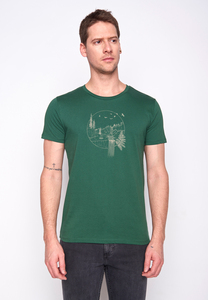 Herren Shirt 100% Biobaumwolle Nature Waterfall Guide GOTS Zertifiziert - GreenBomb