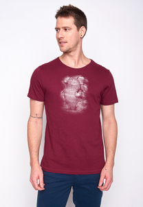 Herren Shirt 100% Biobaumwolle Animal Mole White Spice GOTS Zertifiziert - GreenBomb