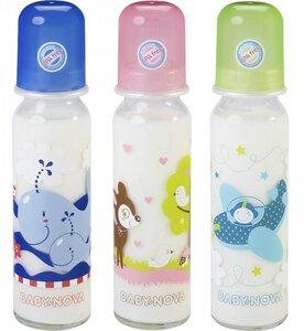 Babyglasflasche Milch, 240 ml - Baby Nova