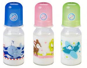 Babyglasflasche Milch, 125 ml - Baby Nova