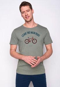 Herren Shirt 100% Biobaumwolle Bike Leave Road Spice GOTS Zertifiziert - GreenBomb