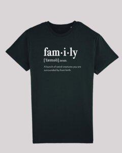 Herren T-Shirt - family, 100% Bio-Baumwolle, Eco-Print - ethicted