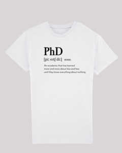 Herren T-Shirt - PhD, 100% Bio-Baumwolle, Eco-Print - ethicted