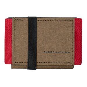 Kleines Portemonnaie mit Münzfach A&K MINI braun + 7 Farben für Männer und Frauen  - ANDERS & KOMISCH