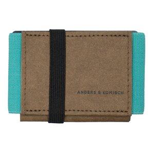 Kleines Portemonnaie mit Münzfach für Männer und Frauen - A&K MINI braun + 7 Farben - ANDERS & KOMISCH