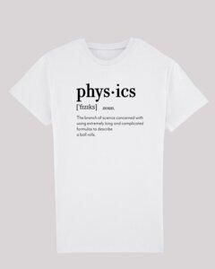 Herren T-Shirt - physics, 100% Bio-Baumwolle, Eco-Print - ethicted