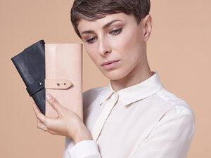 NOY Hamburg LADIES' PURSE \\ Portemonnaie aus vegetabil gegerbten Leder Damenbörse  - NOY