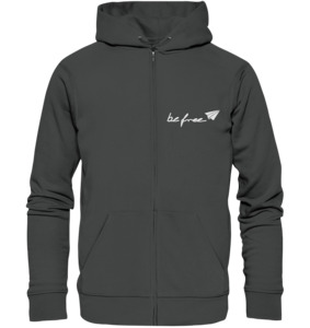 be free - Unisex Logo Zip Sweatjacke - be free shoes