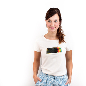 Ins Gelb - Printshirt Frauen Bio & Fair - Coromandel