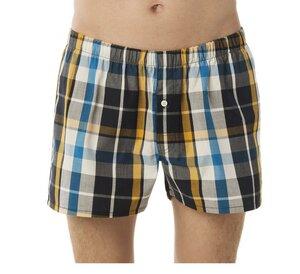 Boxershorts - blau-navy-gelb Karo - Living Crafts