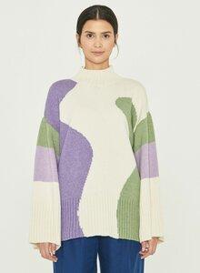 Stehkragen-Pullover aus Bio-Merinowolle und Bio-Baumwolle - ORGANICATION