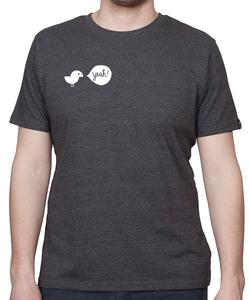 Shirt Men Melange Black 'Birdy Yeah' - SILBERFISCHER