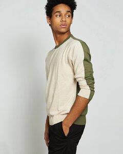 Pullover CALI for MEN bicolor aus 100% Baumwolle - JAN N JUNE
