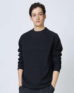 Pullover TOULON FOR MEN schwarz mit Nadelstreifen - JAN N JUNE