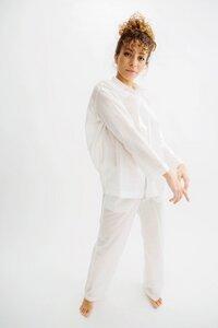 Oversized Bluse, edles Schlafanzug-Oberteil Cotton Breeze - Antichi