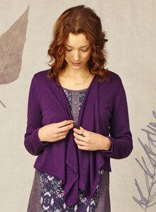 Ivy Brook Copped Cardigan Purple - Braintree