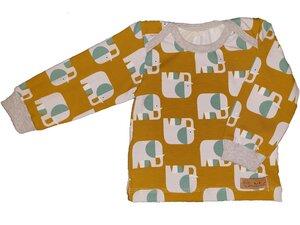 Babyshirt aus Biojersey Elefanten - Omilich