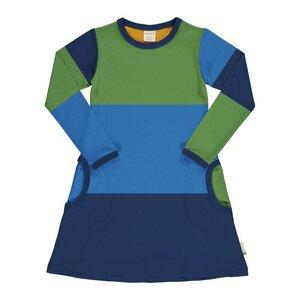 Maxomorra Mädchen Kleid Blockfarben navy - maxomorra