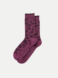Nudie Jeans Socken Olsson Paisley, violet - Nudie Jeans