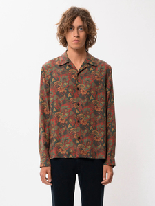 """Hemd aus Tencel mit Allover Paisley Muster """"Vidar Paisley"""" green - Nudie Jeans"""