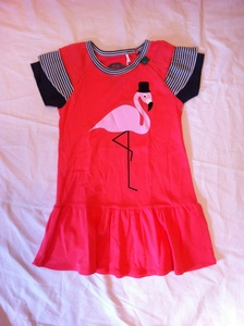 Kleid in pink mit Flamingoaufdruck - Fred's World by Green Cotton