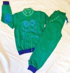 Jogginganzug grün-blau - Fred's World by Green Cotton