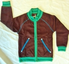 Joggingjacke aus Baumwollfrottee braun - Fred's World by Green Cotton