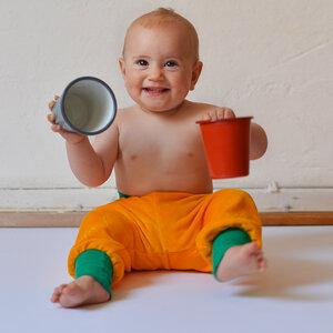 Baby Nickihose gelb/grün - Cmig