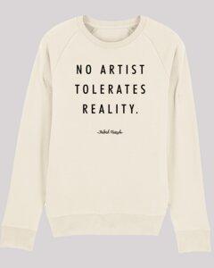 Herren Sweatshirt no-artist, aus weicher Bio-Baumwolle, öko-zertifizierter Druck - ethicted