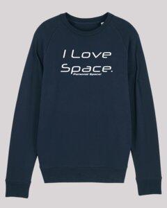 Herren Sweatshirt - space, aus weicher Bio-Baumwolle, öko-zertifizierter Druck - ethicted