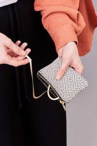 """Portemonnaie """"ALICIA"""" in Creme Weiß oder Schwarz, handgefertigt in Lateinamerika, 9x12 cm - Nata Y Limón"""