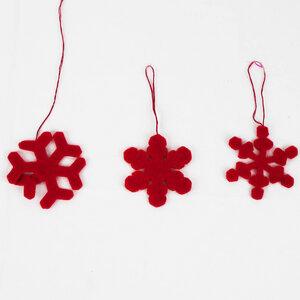 Baumschmuck 3er Set Schneeflocken aus Filz - Mitienda Shop