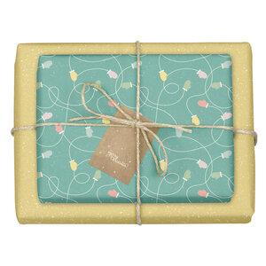 """Geschenkpapier Set: Weihnachten """"Handschuhe/ Pünktchen gelb, grün"""": 4x Bögen + 4x Anhänger (für Erwachsene + Kinder) - dabelino"""
