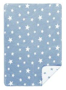KOLTER Sternchen Kuscheldecke Wolldecke Babydecke Decke Bio-Decke Couchdecke aus Bio-Baumwolle - Kolter
