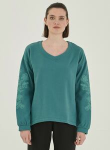 Sweatshirt aus Bio-Baumwolle mit Stickerei - ORGANICATION
