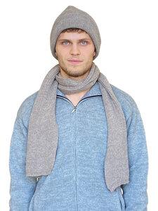 Alpaka Kombination aus Wollschal und Wollmütze - Albwolle
