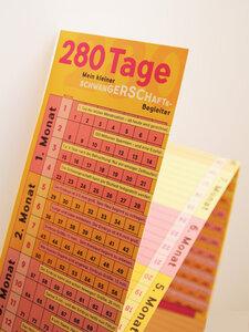 Schwangerschaftskalender & Mini-Tagebuch Rosa-Gelb-Pink-Orange - Wi-La-No